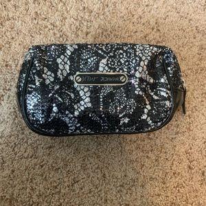 Betsey Johnson Lace Sequin Makeup Bag